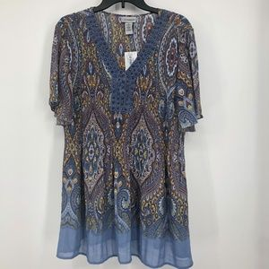 NWT Catherine's 1X Pleated top
